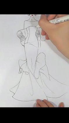 Fashion Illustration Portfolio, Fashion Design Sketchbook, Fashion Illustration Dresses, Fashion Design Drawings, Fashion Sketches, Fashion Design Illustrations, Fashion Drawing Tutorial, Fashion Figure Drawing, Fashion Model Drawing