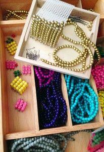 DIY Montessori Math Beads