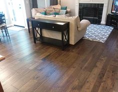 Monterey Casita installation in Olathe Kansas. This detailed photo shows the random length of Hallmark Floors Hardwood Flooring Collection: Monterey