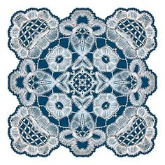 ArtbyJean - Images of Lace: Lace doilies in shades of blue.