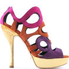 Jerome C. Rousseau suede platform sandal