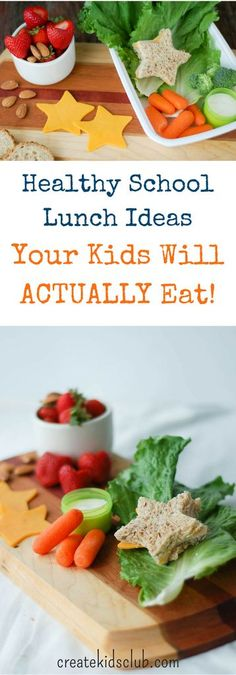 Mornings go smoother with our Healthy School Lunch Ideas. Get your kids to actually eat their healthy school lunch with these tips and ideas from a registered dietitian and mom of two. | http://createkidsclub.com