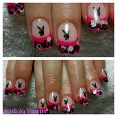 Playboynailart nails pinterest nail spa nail art playboy acrylic nails prinsesfo Image collections