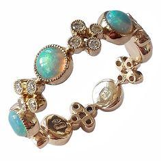 Dalben Australian Opal Diamond Gold Band Ring For Sale Opal Band Ring, Gold Band Ring, Opal Rings, Band Rings, Diamond Rings For Sale, Gold Diamond Band, Opal Jewelry, Jewelry Rings, Jewelry Accessories