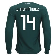 c176ff3fb adidas Javier Chicharito Hernández Mexico Long Sleeve Home Jersey 2018