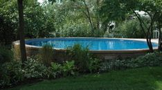 inground pools for sloped yards | pool can be installed aboveground partially in ground or completely in ...