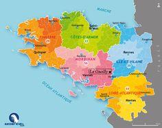 Maps of regions (departments) in Brittany. Les #Breizhblogueuses Conquises Par La Grée Des Landes! - Lalydo's ...