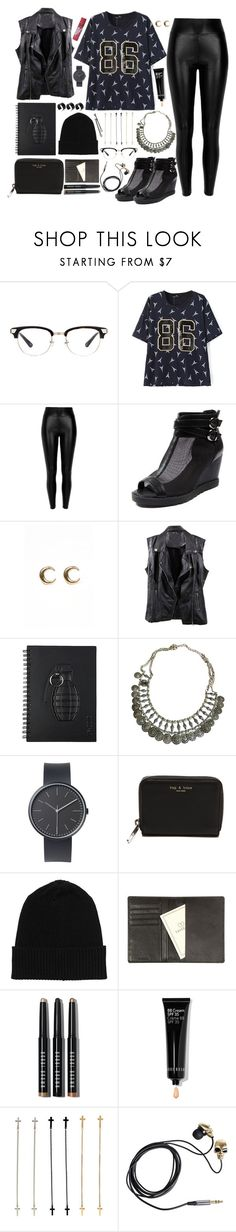 """""""LUCLUC 6"""" by branja ❤ liked on Polyvore featuring Black, LowLuv, Free People, Uniform Wares, rag & bone, Monki, Tavecchi, Bobbi Brown Cosmetics, Friis & Company and ASOS"""