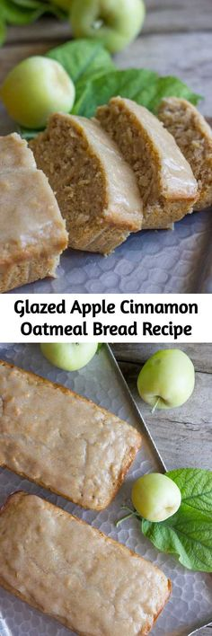 Glazed Apple Cinnamon Oatmeal Bread Recipe Apple cinnamon oatmeal bread is slightly sweet, has nice chunks of apples, and the oats give it a great consistency. This makes a hearty, tasty breakfast. Apple Recipes, Fall Recipes, Bread Recipes, Sweet Recipes, Cooking Recipes, Irish Recipes, Apple Cinnamon Oatmeal, Cinnamon Apples, Cinnamon Crunch