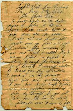 Pvt. Charles H. Austin Letter, Civil War soldier.  Their handwriting was so beautiful back then!