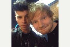 James with Ed Sheeran