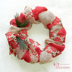 Christmas Burlap Wreath by ktboundary24 on Etsy, $65.00