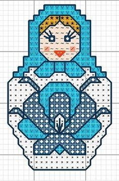 Matryoshka hama perler beads pattern