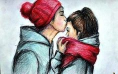 Drawing of a couple