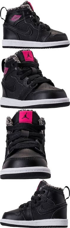 8b46cfb91f26 Baby Shoes 147285  Jordan 1 Retro High Gt Baby Toddler Shoes Black Deadly  Pink White