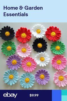 Other Crocheting & Knitting Crafts Scrap Yarn Crochet, Crochet Motif, Irish Crochet, Crochet Stitches, Crochet Patterns, Yarn Flowers, Crochet Flowers, Crochet Backpack, Crochet Flower Tutorial