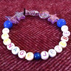 Teenage Jezebel bracelet. Party girl slut by TeamWollstonecraft