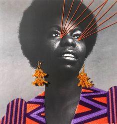 Nina Simone, Mushroom Art, Paper Embroidery, Creative Portraits, Textile Artists, Pics Art, Collage Art, Art Collages, Cool Art