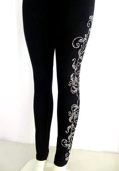 Regular Size Full Length Leggings от BlingBlingFashions на Etsy