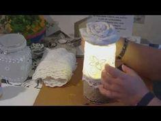 Beton giessen - DIY - Betonlampe/ Lampe aus Beton/ Rosenlampe - YouTube