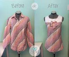 mens dress shirt refashion - Google Search