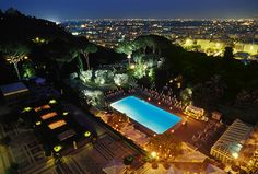 Views fit for an emperor over at the Rome Cavalieri Hotel.