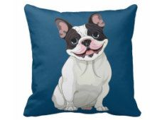 Throw Cushion, French bulldog cushion, French bulldog pillow, bulldog, pillow, Frenchie