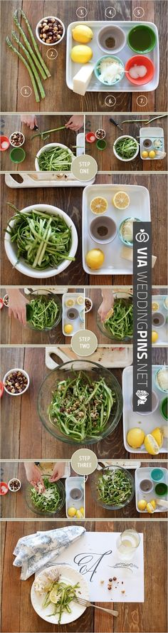 ribboned asparagus salad recipe how to   CHECK OUT MORE IDEAS AT WEDDINGPINS.NET   #weddingfavors