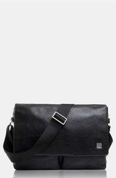 c22078c659b0 KNOMO London Leather Messenger Bag available at  Nordstrom Black Leather  Messenger Bag