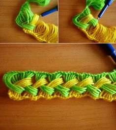 DIY Hook knit scarf free pattern and tutroial