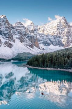 ***Kayaking in Moraine Lake (Banff, Alberta) by Stevin Tuchiwsky