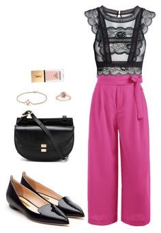Street style by dalma-m on Polyvore featuring polyvore fashion style Rupert Sanderson Chloé David Yurman Yves Saint Laurent clothing