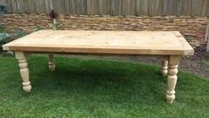 8 ft Reclaimed Pine Barnwood Table by oldbarnstar1 on Etsy