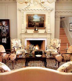 An elegant living room in Virginia...