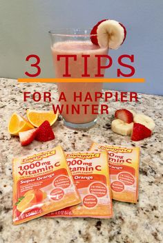 Here I share 3 main tips that will help you have a happy and healthy winter! I also share a super easy fruit smoothie recipe that you will love! #ad #HowDoYouEmergenC http://cbi.as/5z6q7 @walgreens