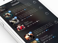 Tagger iOS7 redesign by Alex Bender, via Behance
