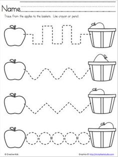 Apple Time – Free Fine Motor Skills Page – Madebyteachers