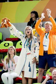 La reine Maxima et le roi Willem-Alexander des Pays-Bas aux JO de Rio, le 15…