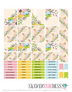Free Planner Stickers Summer Time Flowers