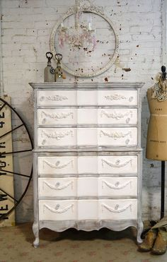 Painted Cottage Chic Shabby Grey and Teastain by paintedcottages, $595.00