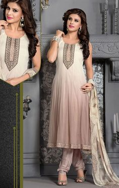 Picture of Tantalizing Off White Color Ready Made Salwar Kameez Suit