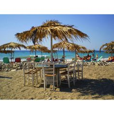 Hippys beach cafe, a photo from Samos, North Aegean | TrekEarth found on Polyvore