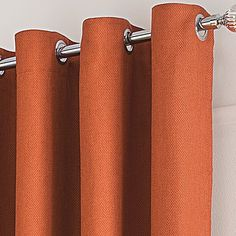 George Home Orange Textured Weave Curtains | Curtains | George at ASDA
