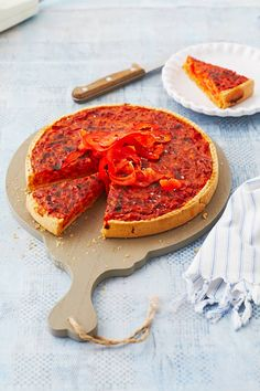 Vegetarische Paprika-Zwiebel-Quiche