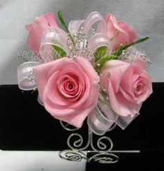 Light Pink Rose Corsage For Prom