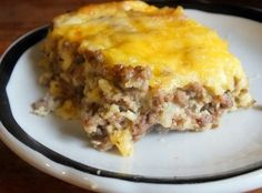 Easy Bacon Cheeseburger Casserole Recipe Low Carb Home . Home and Family No Carb Recipes, Healthy Recipes, Beef Recipes, Cooking Recipes, Low Carb Hamburger Recipes, Skinny Recipes, No Carb Dinner Recipes, Chicken Recipes, Mince Recipes