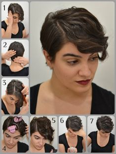 Pixie Cut Styling. And I gotta try this style for my pixie cut