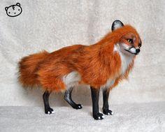 Red fox- posable art doll by LisaToms.deviantart.com