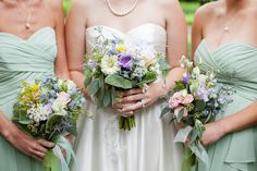 The bride's and bridemaid's bouquets!