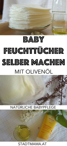 Baby Feuchttücher kann man ganz einfach und natürlich selber machen: Mit Olive… Baby wipes can be made easily and naturally: with olive oil, kitchen towel and baby care soap. Simple DIY instructions for wet wipes we have been using for years. Baby Feeding Chart, Baby Feeding Schedule, Olives, Baby Popo, Baby Care Tips, Wet Wipe, Baby Hacks, First Baby, Baby Baby